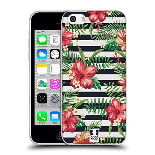 Head Case Designs Jungle Imprimées Tropicaux Étui Coque en Gel molle pour Apple iPhone 6 / 6s Rayures