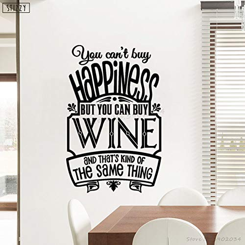 yaoxingfu Wandtattoo Abnehmbare Wine Club Logo Vinyl Wandaufkleber Küche Fenster Poster Kreative Alkohol Bar Art Decor Geschenk DIY weiß 57x88 cm (White Wine Club)