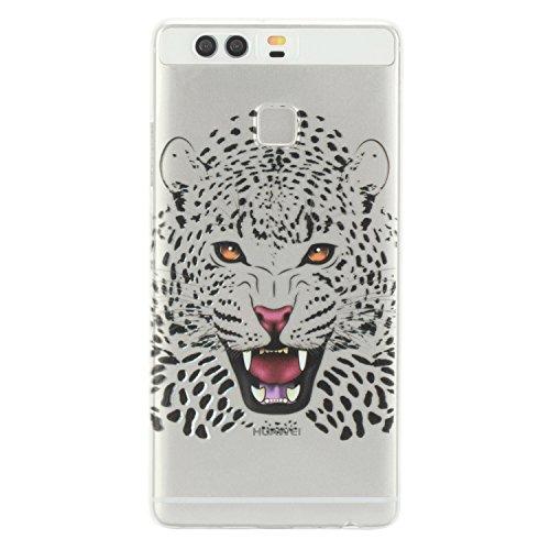Qiaogle Téléphone Coque - Soft TPU Silicone Housse Coque Etui Case Cover pour Apple iPhone 5 / 5G / 5S / 5SE (4.0 Pouce) - HX39 / Couple mouse HX44 / Leopard