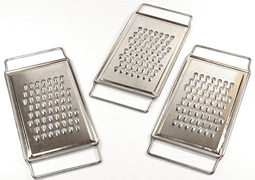 Küchenreibe Flachreibe 3 Stück -K&B Vertrieb- grob Reibe Gurkenhobel Gemüsehobel 448a
