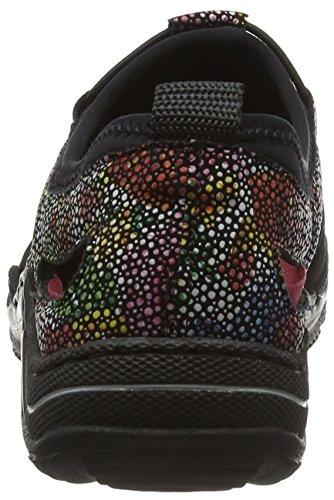Rieker Damen L0561 Sneakers Schwarz (schwarz/schwarz-multi/schwarz / 00)