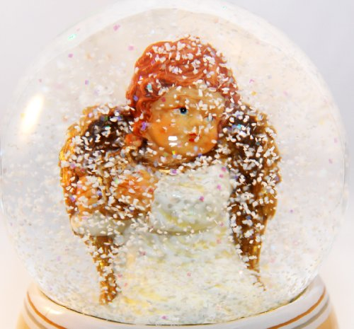20037 boule neige ange avec une harpe beigeblanc avec. Black Bedroom Furniture Sets. Home Design Ideas