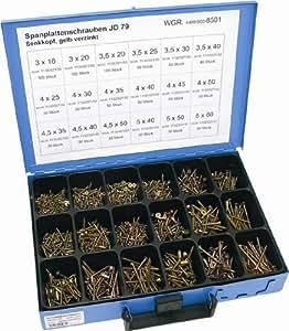 Dresselhaus 8501 Coffret de vis à aggloméré Têtes fraisées Galvanisées (Import Allemagne)