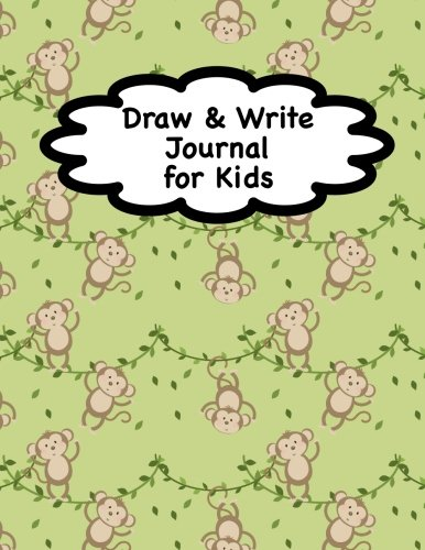Draw and Write Journal for Kids: Monkey Notebook for Kids   Writing & Drawing Journal   Kindergarten Journal   100 Pages (8.5 x 11) por Scribed With Love