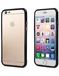 Connect Zone Noir Jante Pare-chocs Coque Housse pour iPhone 6 Plus (14cm) + Protecteur D'écran & Tissu Polissage