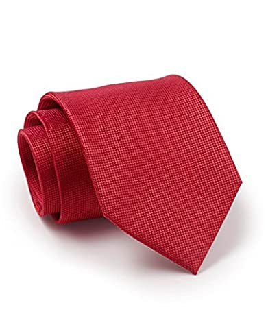 Savile Row Men's Red Birdseye Textured Silk Tie