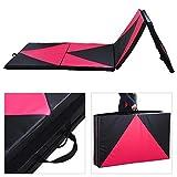 Popamazing 10FT Foldable Exercise Yoga Gymnastics Mat PU Soft Tumble Play Crash Safety