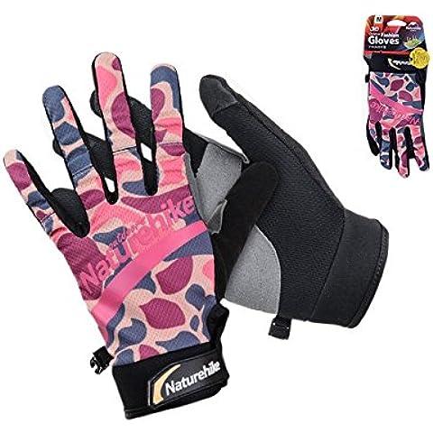 NatureHike Estate guanti da arrampicata Unisex traspirante escursionismo guanti guanti da ciclismo Telefingers Gloves, Rosso
