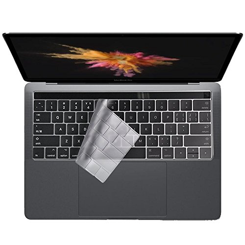 Colel Premium Ultra Dünn Transparent Tastatur Schutzfolie Cover Haut für Macbook Pro 15 Inch A1707 Touch Bar (EU/UK-Layout)