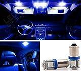 #7: AllExtreme 5 SMD TD 5050 LED Parking/Roof Indicator Socket Light Blue Light Bulb Car/Bike Universal 12V Lamp