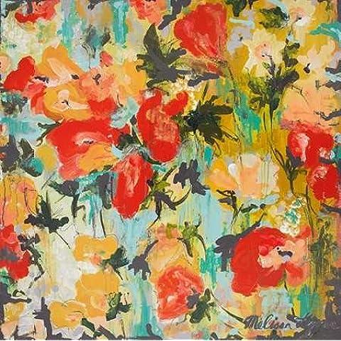 Feeling at home, Stampa artistica x cornice - quadro, fine art print, Fusion floreale cm 84x84