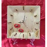 Halbquadrat Keramik Uhr