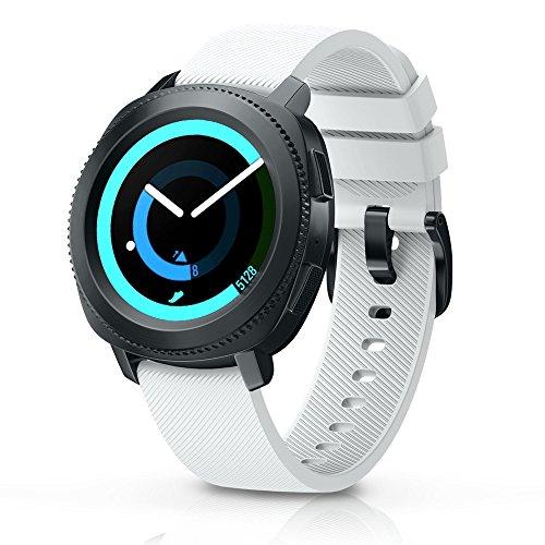 NotoCity Compatible Samsung Gear Sport Correa 20mm Pulsera Suave Silicona para Samsung Gear Sport S2/Garmin Vivoactive 3/Garmin Vivomove HR