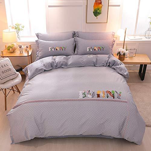 yaonuli Baumwolle vierteilig Baumwolle aktiv vierteilig mit 2 Meter Bettbezug 220X240
