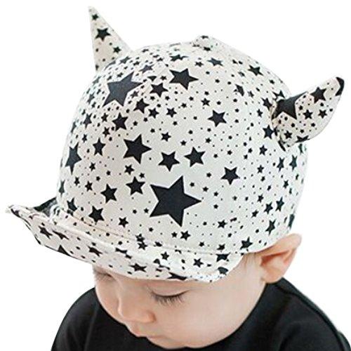 Bergen-Belsen-Kind Weich Cartoon Baseball Kappen Baby flat-brimmed Hat Gr. Einheitsgröße, Ox horn White (Halloween-mütze)