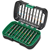Hitachi 750361-Set de 18 embouts de vissage extra-longues 75 mm PH PZ 1-2-3 1-2-3 fente 4. 5-6,5 3-4-5 Hex 10-15-20-25-27-30-40-7 T pcs-sur support