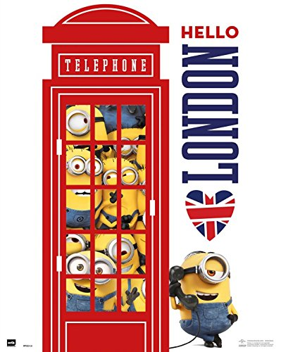 Minions – Hello London, Red Telephone Póster Mini (50 x 40cm)