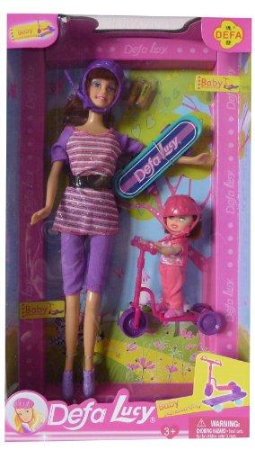 Lucy und Schwestern Scooter Spaß, 2 Puppen im Set