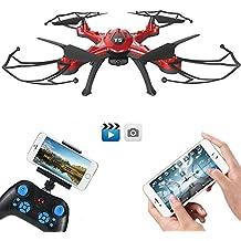GoolRC T5W Drone con Cámara 0.3MP Wifi FPV RC Quadcopter 2.4GHz 4CH 6 Ejes Girocompás con Funciones de Retorno Una-tecla Modo CF 360 ° Eversión