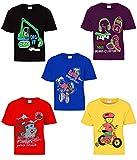 #10: kiddeo boys half sleeve t shirts (2k18)(02)(pack of 5)