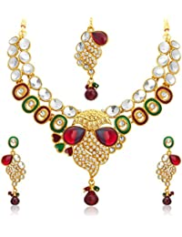 Sukkhi Lavish Gold Plated Kundan Necklace Set For Women