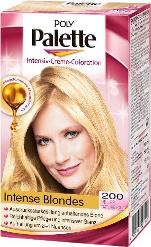 Haare blond farben poly palette