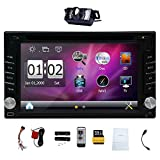 Upgarde Version mit Kamera! 6.2 'Double 2 DIN Auto-DVD-CD-Video-Player Bluetooth-GPS-Navigation Digital Touch Screen Auto-Stereoradioauto PC 800MHZ CPU !!!