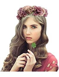 Jelinda diadema corona tocado de flores pluma de color para novias accesorios disfraces para fiestas