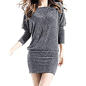 f237a57316f0 Blooming Jelly Women's Sequin Dress Long Sleeve Sexy Bodycon Party Mini  Dresses for Women