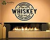 Decalcomania della parete In Vinile Artista Home Decorare Adesivo Bar Alcol Ristorante Whisky Tequila Decorazione Demolizione Murale Poster 57 * 76 cm