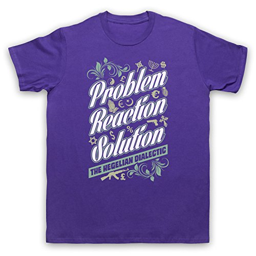 Problem Reaction Solution The Hegelian Dialectic Herren T-Shirt Violett