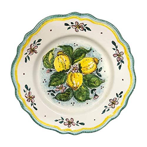 CERAMICHE D\'ARTE PARRINI- Italienische Kunstkeramik, Wohnung, Dekoration Zitronen, handgemalt, hergestellt in Italien Toscana