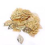 kingwin 100Stück golden metall durchbrochen Tree Leaves DIY Craft Zubehör