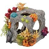 Europet Bernina Décor pour Aquarium en Polyrésine Cube Habitat Taille S 12 x 11, 5 x 11 cm