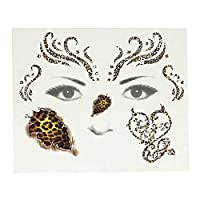 SHANF Creative Leopard Temporary Tattoo Sticker Face Tattoo Paper Halloween Rave Party Body Make Up
