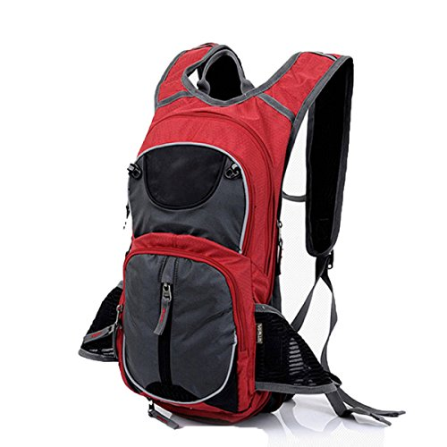 Outdoor Rucksack Mountaineering Bag Männer Und Frauen Walking Rucksack Rucksack Ultra-light Breathable Wasserdichte Tasche,Black Red