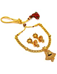 Jewar Mandi Original One Gram/Two Gram Gold Plated Victorian Kundan Jade Gemstone Kundan Polki Necklace Jewelry...