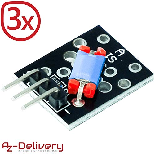AZDelivery ⭐⭐⭐⭐⭐ 3 x KY-020 Neigung Schalter Shake Schock Sensor Schüttelsensor für Arduino mit gratis eBook! Shake-sensor