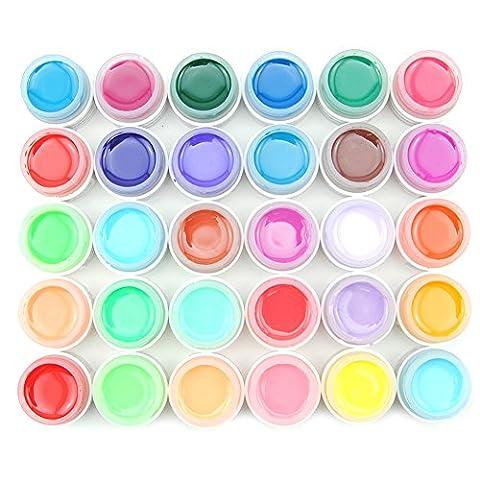 Coscelia 30 Farben Profi Farbgele UV Nagelgel Nagellack Kits Polish