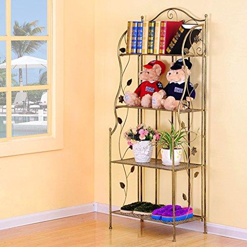 CKH Schmiedeeisen-Mode-Creative-Racks Multi-Layer-Wohnzimmer Regal gegen die Wand dekorative Rack Schuh Rack Storage Lagerregal (Color : Bronze)