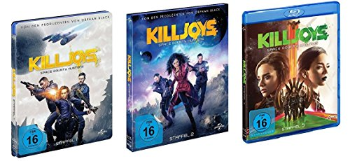 Killjoys - Space Bounty Hunters - Staffel 1+2+3 im Set - Deutsche Originalware [6 Blu-rays]