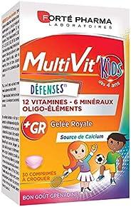 Multivit Kids | Complément Alimentaire Forme et Tonus - Enfants de 5 ans et plus - 12 Vitamines et 7 Minéraux