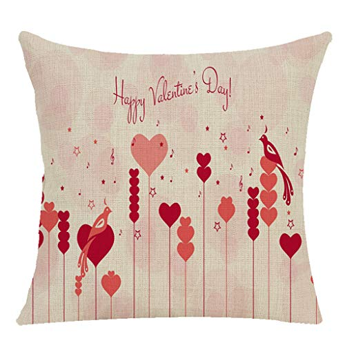 MOIKA Glücklicher Valentinstag Dekoration WurfKissenbezug Süss Love Quadrat Kissenbezug 45x45cm Happy Valentinstag Kissenbezug (ohne Kissen)