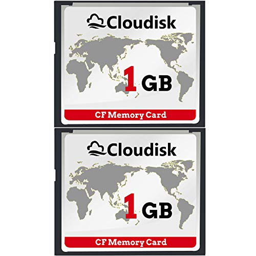 Cloudisk 2X CF-Karte Compact Flash 1 GB Speicherkarte Leistung für Vintage Digitalkamera 2 Compact Camera Case
