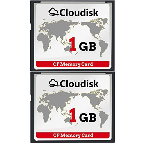 2pcs prestazioni della scheda di memoria cf compact flash da 1 gb per fotocamera digitale vintage (1gb)