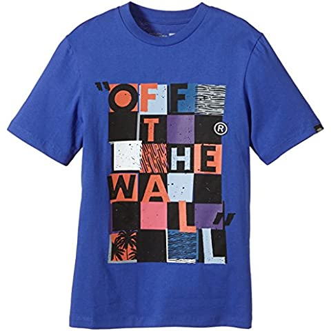 Vans Shirt B Checker Blaster II - Camiseta / camisa deportiva para niño, color azul, talla L