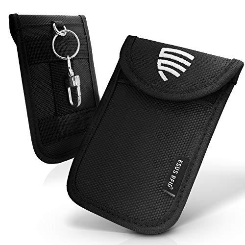 ESUS RFID Schutz Keyless Schlüssel TÜV Geprüft Schlüsseletui Diebstahlschutz Keyless Go Schutz Autoschlüssel Oxford Schlüsseltasche zzgl. Gratis 2X RFID Schutzhülle Kreditkarten & RFID Guide