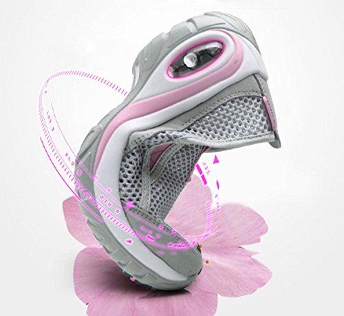 Antidérapant Pour Femme Wearable Élasticité Respirabilité Chaussures D'alpinisme Loisirs Randonnée Chaussures De Course Sport Gris