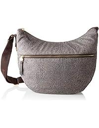 18a62b6009 Borbonese Luna Bag, Borsa a Tracolla Donna, 35x38x15 cm (W x H x