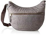 Borbonese Luna Bag Borsa a Tracolla Donna, (Op Classico/Marrone), 35x38x15 cm (W x H x L)